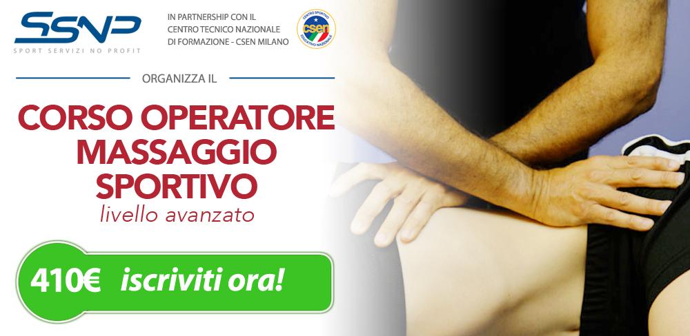 Operatore massaggio sportivo – avanzato