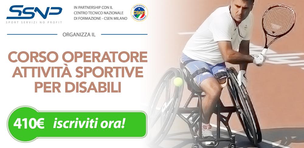 Operatore attività sportive per disabili
