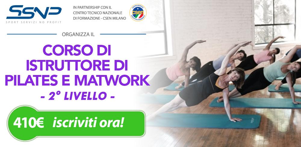 Istruttore di pilates e matwork - 2° livello