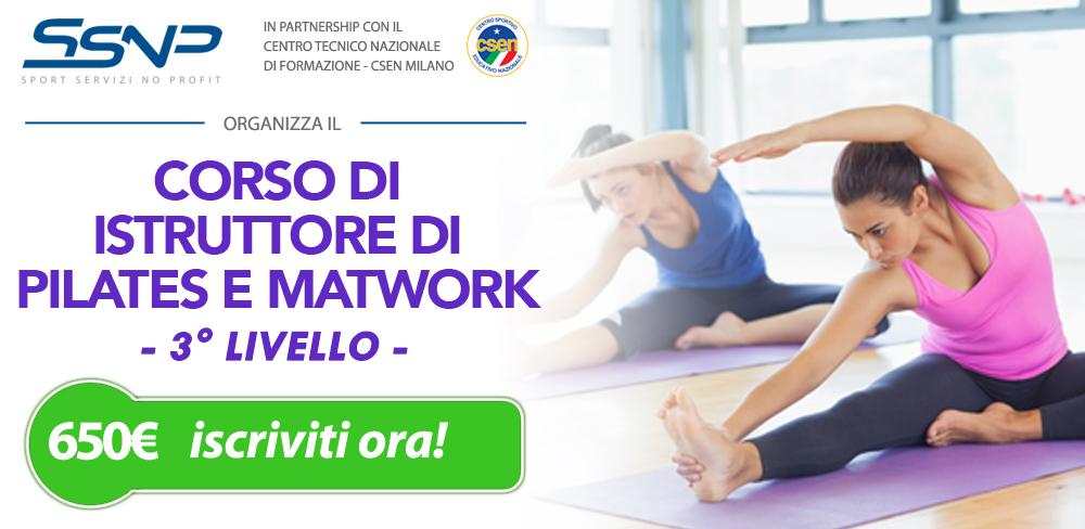 Istruttore di pilates e matwork - 3° livello